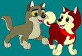 Balto and Jenna as pups