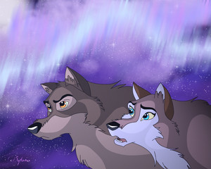 Balto and his daughter Aleu