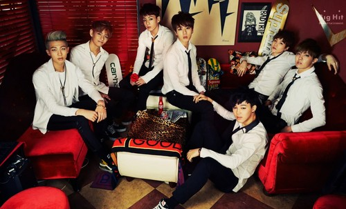 "bangtan boys wallpaper possibly containing a drawing room titled Bangtan Boys ""Skool Luv Affair""!"