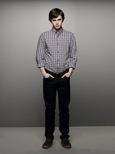 Bates Motel wallpaper with a well dressed person, flannel, and a pantleg titled Norman Bates S.2