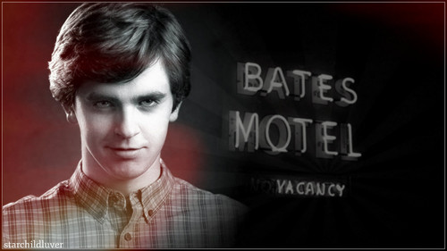 Bates Motel karatasi la kupamba ukuta probably containing a sign, a bouquet, and a portrait entitled Bates Motel s2