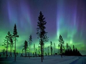 a sky in Alaska