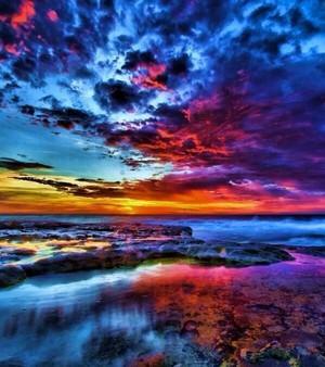 a tropical sky