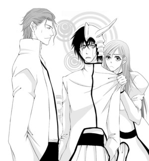 Ulquiorra, Orihime and Aizen