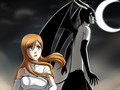 Ulquiorra and Orihime - bleach-anime wallpaper