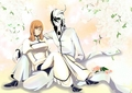 Ulquiorra and Orihime - bleach-anime fan art