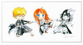 Ulquiorra vs Ichigo and Orihime - bleach-anime fan art