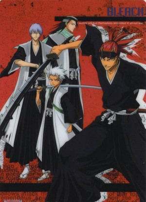 Gin, Byakuya, Toshiro and Renji