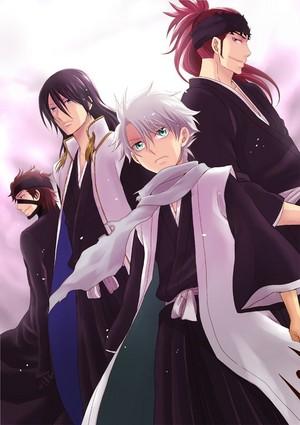 Aizen, Byakuya, Hitsugaya and Renji