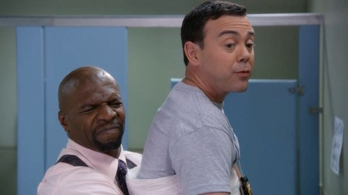 Brooklyn Nine-Nine wallpaper probably with a tennis pro, a tennis player, and a portrait entitled Charles in da line of fuoco
