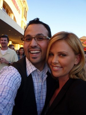 charlize with fans
