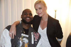 charlize with fan