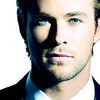 Chris Hemsworth photo with a business suit, a suit, and a portrait titled Chris Hemsworth