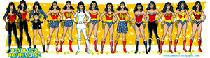 Wonder Woman - evolution and costumes