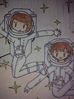Takuya and Kari Astronauts/space malaikat