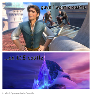 in which flynn wants an ice istana, castle