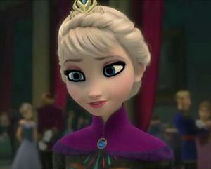 Elsa's modest look