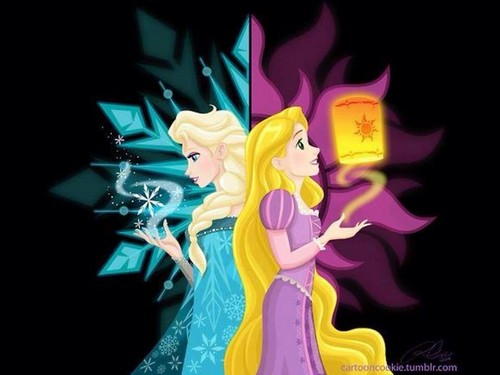 Диснеевские принцессы Обои possibly with Аниме called Ice или Light?