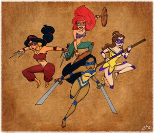 Disney Mutant Ninja Princesses