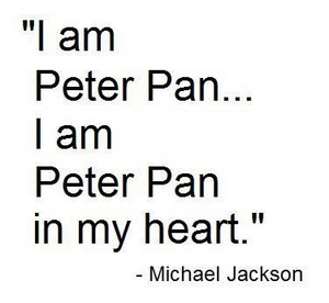 Michael Jacksoon's 查看 On The Subject Pertaining To The 迪士尼 Character, Peter Pan