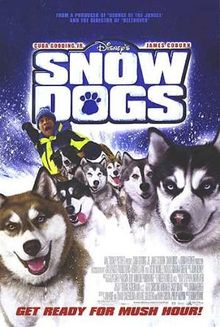 "Movie Poster For The 2002 Disney Film, ""Snow Dogs"""