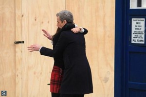 Doctor Who - Season 8 - Set foto-foto of Peter Capaldi and Jenna Coleman