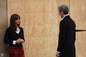 Doctor Who - Season 8 - Set ছবি of Peter Capaldi and Jenna Coleman