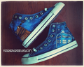 Doctor Who Custom Converse / Tardis  - doctor-who fan art