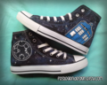 Your Name in Gallifreyan 'Custom Converse' / Doctor Who / Tardis 'Galaxy' - doctor-who fan art