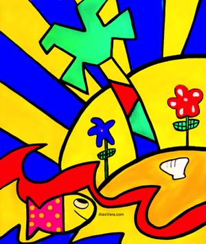 Pop Art مچھلی