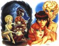 Dewshine, Scouter, and Tyleet - elfquest photo