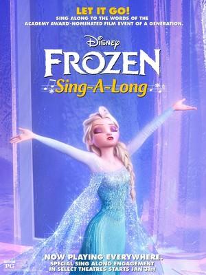 Theatrical poster for Disney's Nữ hoàng băng giá Singalong edition