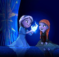 Elsa the Snow क्वीन वॉलपेपर titled Anna and Elsa kids