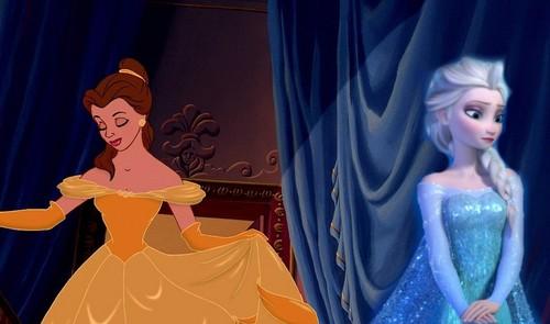 Elsa the Snow क्वीन वॉलपेपर entitled At the ball...