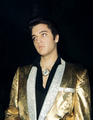 Elvis in his Gold Lame Suit