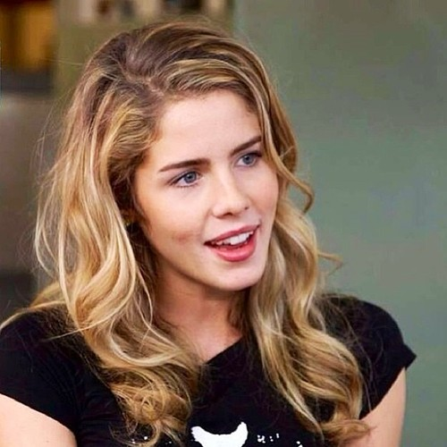 Emily Bett Rickards achtergrond containing a portrait entitled Emily Bett Rickards