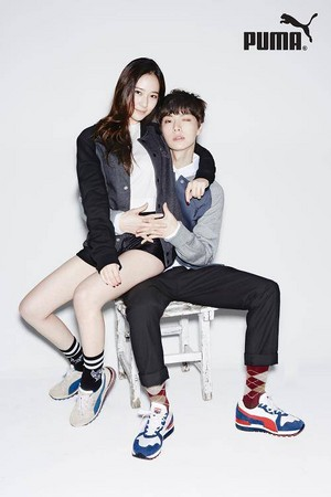 Krystal and Ahn Jae Hyun for 'Puma'