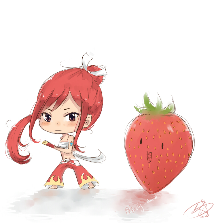 Erza Scarlet Strawberry Cake