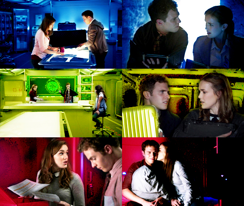 FitzSimmons Обои possibly containing a обедающий, закусочной called 【AGENTS OF S.H.I.E.L.D. + FitzSimmons in every episode】