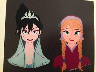 Elsa and Anna Concept Art