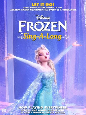 Theatrical poster for Disney's Frozen Singalong edition