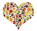 Fruits heart - fruit photo