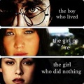 Harry potter-Hunger games-Twilight