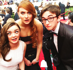 Maisie Williams, Sophie Turner & Isaac Hempstead-Wright
