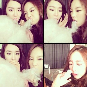 Taeyeon and Tiffany