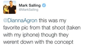 Dianna and Mark tweets