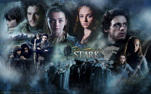 House Stark wallpaper probably with a fire titled The Starks