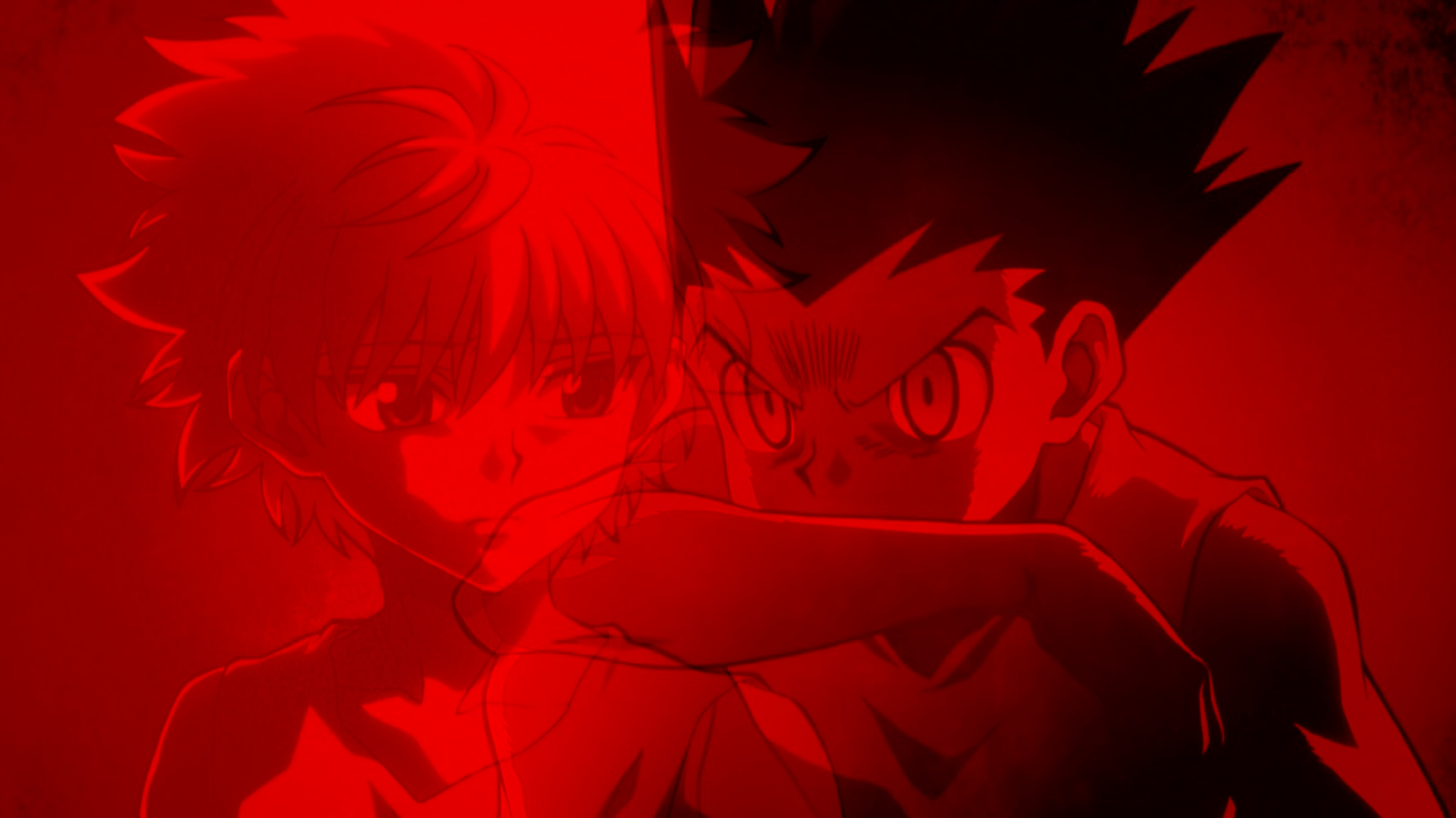Killua X Gon Blood Red Hunter X Hunter Wallpaper