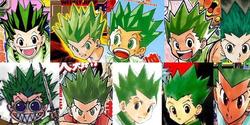 hunter x hunter wallpaper possibly containing animê titled The animê got Gon's hair color wrong.
