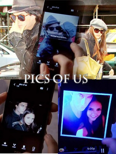 Ian Somerhalder and Nina Dobrev wallpaper possibly containing a laptop entitled Nian in TVD 5x13